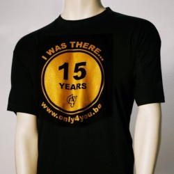 T-Shirt noir Homme - 15 Years Only4You
