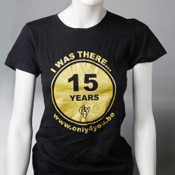 T-Shirt noir Femme - 15 Years Only4You