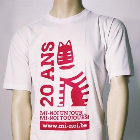 T-Shirt Blanc Homme 20 ans Mi-Noi